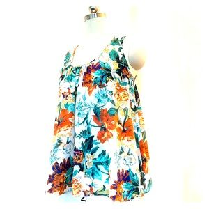 Anthropologie Layered Floral Tank Top